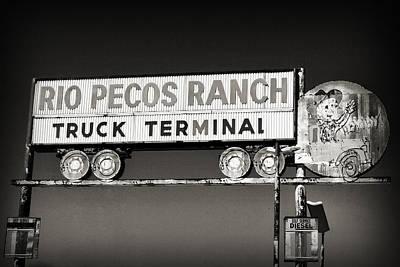 Rio Pecos Ranch Truck Terminal Art Print