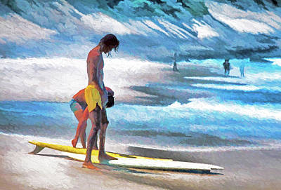 Digital Art - Rio Surfers by Dennis Cox Photo Explorer