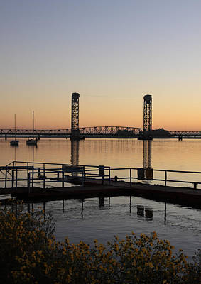 Rio Vista Bridge And Sail Boats Art Print