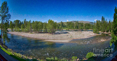Photograph - Rio Vista Deck Panorama Methow Valley Landscapes By Omashte by Omaste Witkowski