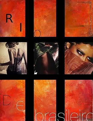 Portuguese Mixed Media - Rio-vogue Series by Vel Verrept