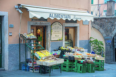 Photograph - Riogmaggiore Fruit Stand  by John McGraw