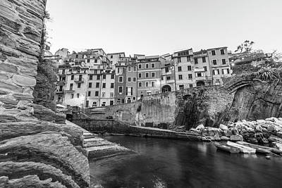 Photograph - Riogmaggiore Italy Black And White  by John McGraw