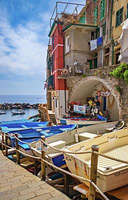 Photograph - Riomaggiore Boat Rentals by Carolyn Derstine