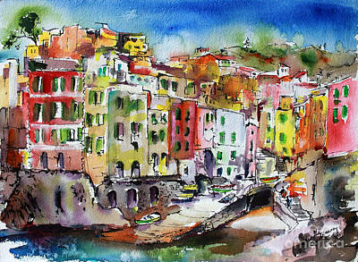 Painting - Riomaggiore Cinque Terre by Ginette Callaway