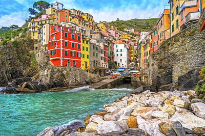 Photograph - Riomaggiore - Cinque Terre National Park - Liguria - Italy by Luciano Mortula