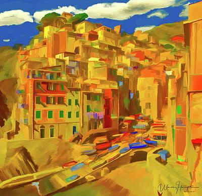 Painting - Riomaggiore  Italy by Wally Hampton