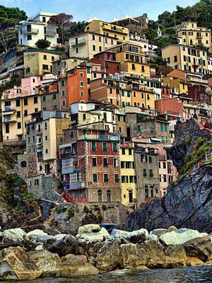 Photograph - Riomaggiore by John Bushnell