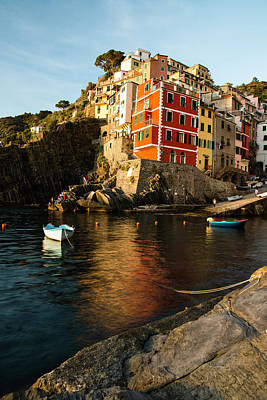 Photograph - Riomaggiore Sunset by Yuri Santin