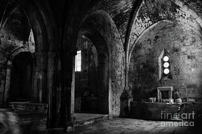 Photograph - Rioseco Abandoned Abbey Chapels Bw by RicardMN Photography