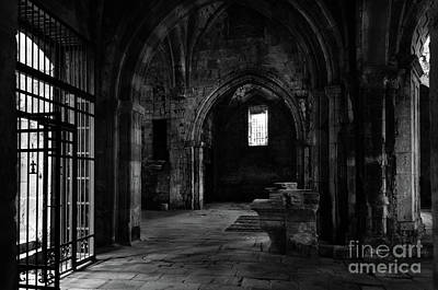 Photograph - Rioseco Abandoned Abbey Naves Bw by RicardMN Photography