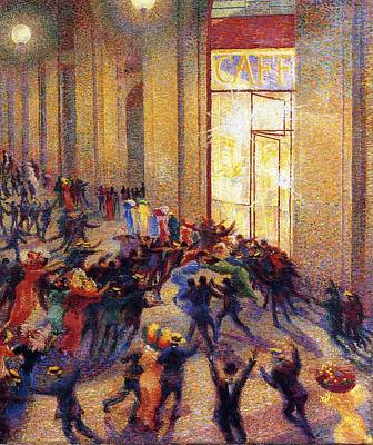 Boccioni Painting - Riot In The Galleria Umberto Boccioni by MotionAge Designs
