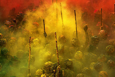 Festivals Of India Photograph - Riot Of Color by Partha Pal