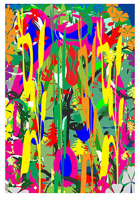 Riot Of Colors  Happy Times Natue Abstract By Navin Joshi May 2015 Art Print