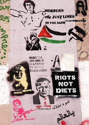 Photograph - Riots Not Diets by Munir Alawi