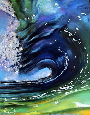 Pastel - Rip Curl - Dynamic Ocean Wave  by Prashant Shah