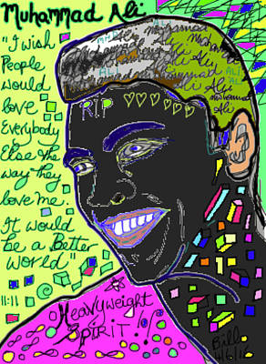 Mohammad Mixed Media - Rip Moh by Bill OLeary