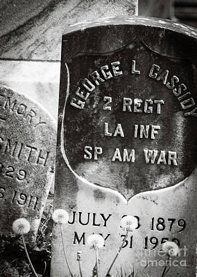 Photograph - Rip Spanish Am War Soldier-nola by Kathleen K Parker
