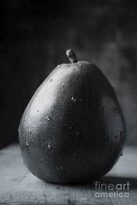 Black Diet Photograph - Ripe Pear Black And White by Edward Fielding