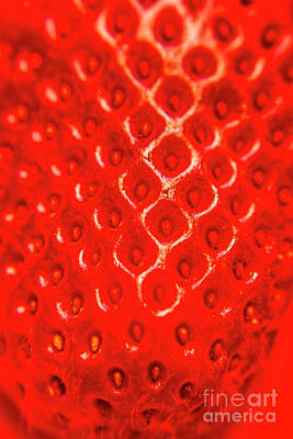 Organic Photograph - Ripe Red Fresh Strawberry Texture And Detail by Jorgo Photography - Wall Art Gallery