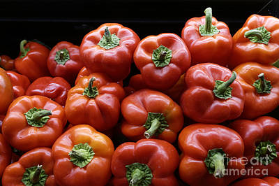 Photograph - Ripe Red Peppers by John  Mitchell
