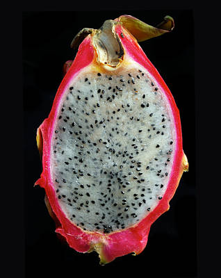Photograph - Ripe Red Pitaya. by Terence Davis
