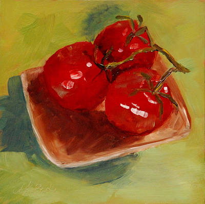Reflection Harvest Painting - Ripe Trio by Mary Benke