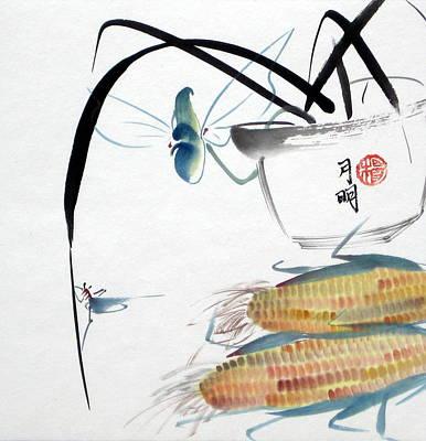 Ripen Corns Art Print by Ming Yeung