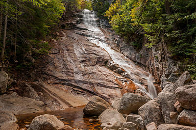 Photograph - Ripley Falls, Crawford Notch by Brenda Jacobs