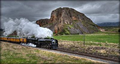 Union Pacific 844 Photograph - Ripping Past Red Rock  by Michael Morse
