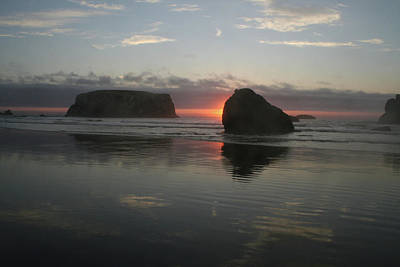 Photograph - Ripple Bandon Sun by Dylan Punke