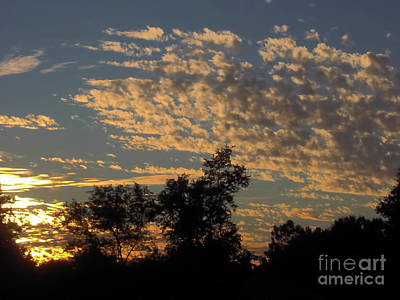 Sunset Photograph - Ripple Clouds At Sunset by D Hackett