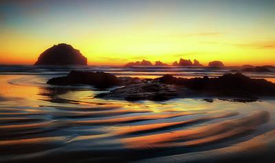 Photograph - Ripple Effect Beach Image Art by Jo Ann Tomaselli