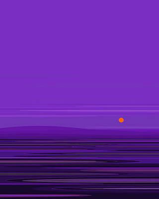 Digital Art - Ripple -twilight Purple by Val Arie