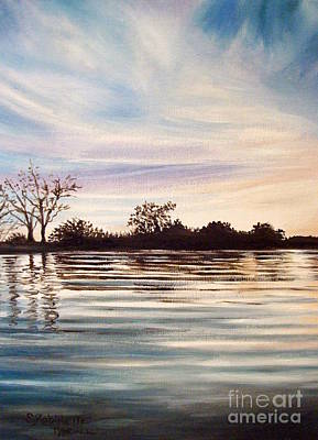 Painting - Rippled Glass by Elizabeth Robinette Tyndall