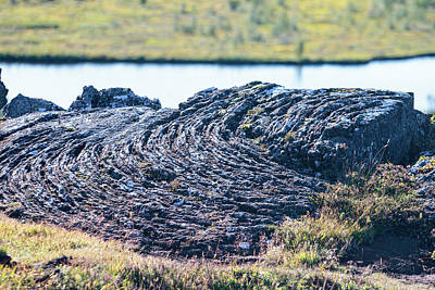 Photograph - Rippled Lava At The Mid-atlantic Rise In Thingvellir, Iceland by Allan Levin