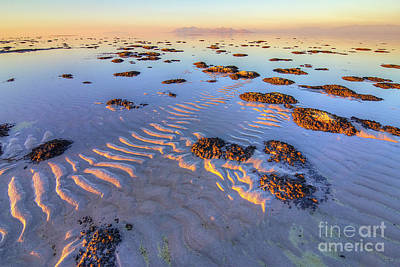 Photograph - Rippled Shore Of The Great Salt Lake by Spencer Baugh