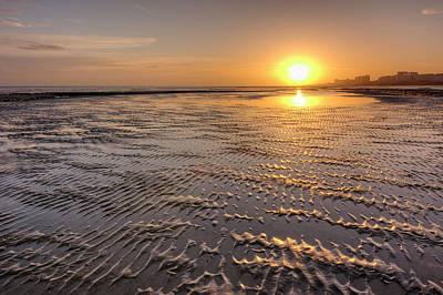 Photograph - Rippled Sunset by Hazy Apple