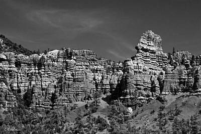Photograph - Rippled Walls B-w by Christopher Holmes