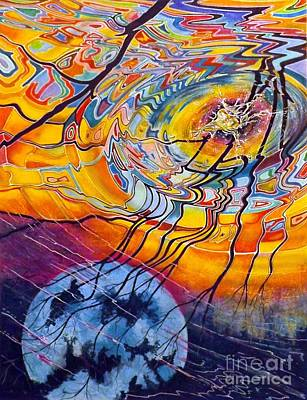 Sunset Abstract Drawing - Ripples by David Neace