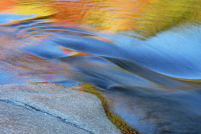 Photograph - Ripples Flow Swift River Nh by Michael Hubley