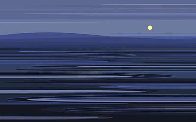 Digital Art - Ripples In Blue by Val Arie