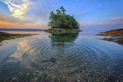 Photograph - Ripples In Casco Bay by Rick Berk