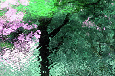 Ripples In Pink Art Print by Carolyn Stagger Cokley