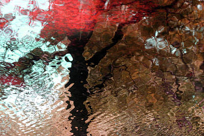 Ripples In Red Art Print by Carolyn Stagger Cokley