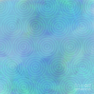 Ripples In The Water Abstract Concentric Circles Art Print by Tina Lavoie