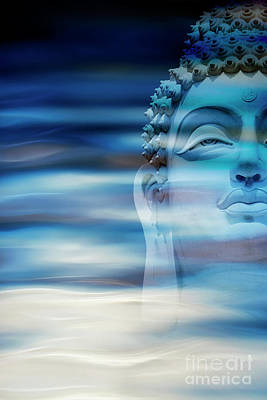 Contemplating Photograph - Rippling Buddha by Tim Gainey