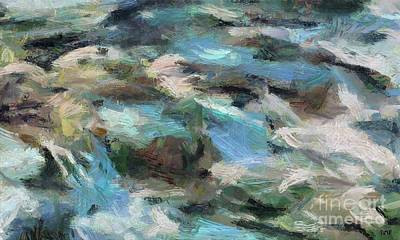 Painting - Rippling Stream by Dragica Micki Fortuna