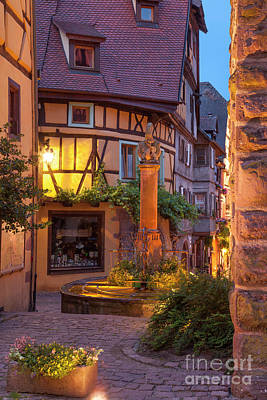 Photograph - Riquewihr Evening Scene by Brian Jannsen