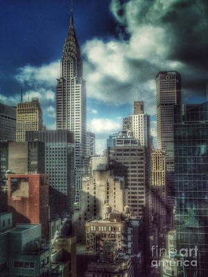 Photograph - Rise Above - Chrysler Building New York by Miriam Danar